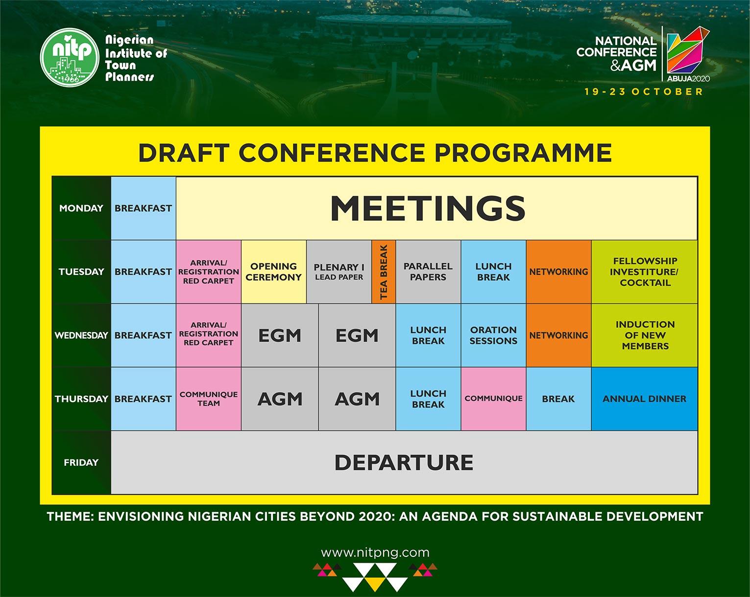 NITP 2020 National Conference Programme