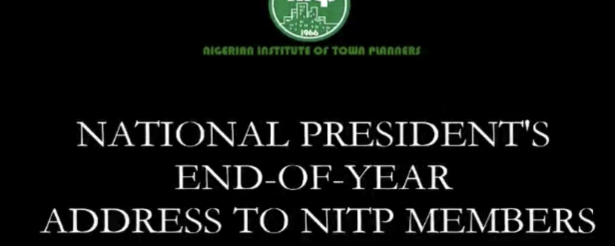 End of year message by NITP President